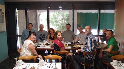 ADC with EMoP gang, breakfast, Athens, 6-6-15