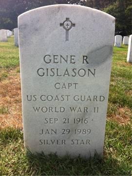 Capt. Gene R. Gislason's headstone, Arlington National Cemetery