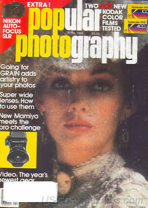 Popular Photography (April 1986), cover