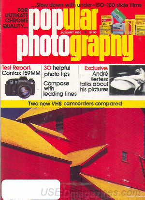 Popular Photography (January 1986), cover