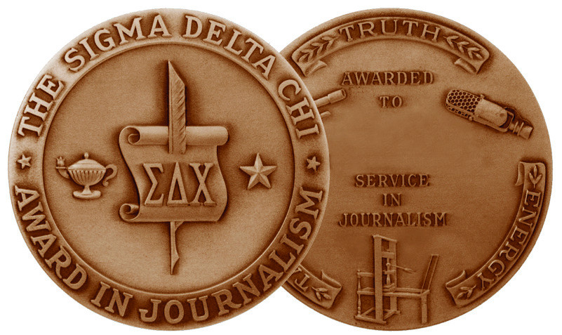 Society of Professional Journalists Awards medallion