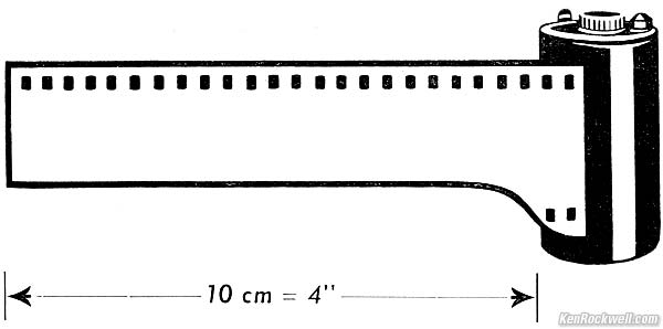Fig. 1. Unexposed roll of 35mm film in canister, with leader.