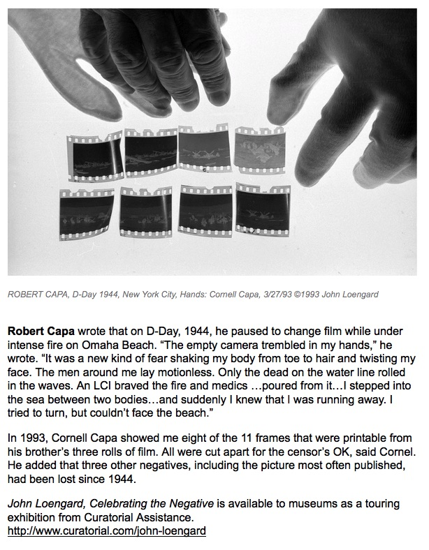 John Loengard on Capa's D-Day negatives, L'oeil de la photographie, screenshot