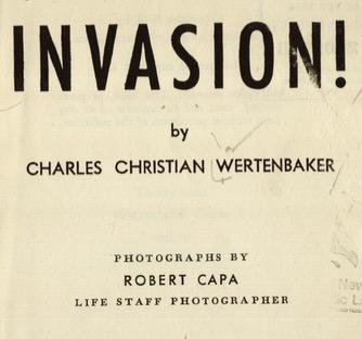 """Charles Wertenbaker, """"Invasion!"""" (1944), title page"""