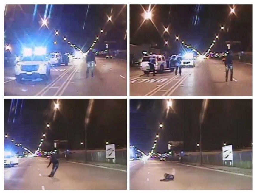 Laquan McDonald murder, October 20, 2014. Stills from Chicago PD video.