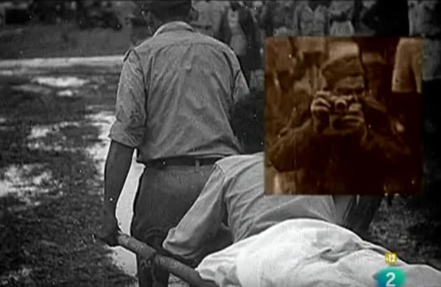 Robert Capa, Vietnam, May 1954 (a), screenshot from Patrick Jeudy's film