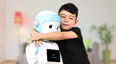 iPal companion robot (l) with friend