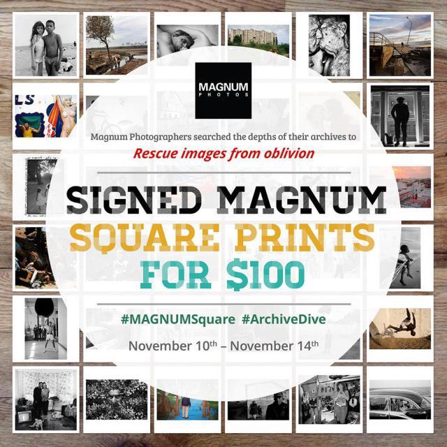 Magnum square-print sale ad
