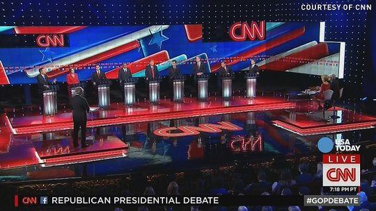 5th Republican debate, Las Vegas, 12-15-15, CNN screenshot