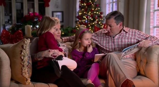 """Ted Cruz campaign ad, """"Cruz Christmas Classics,"""" December 2015, screenshot"""