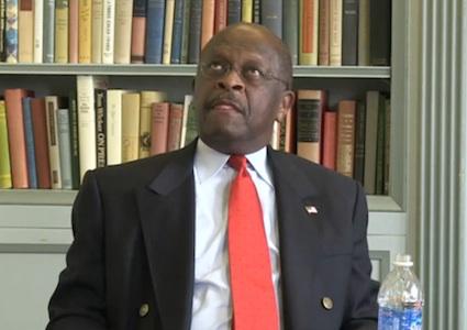 Herman Cain ponders Libya, 11-14-11, screenshot