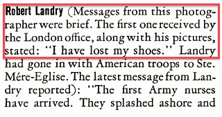 "John Morris, ""LIFE Reports: War Photographers' Stories,"" June 26, 1944"