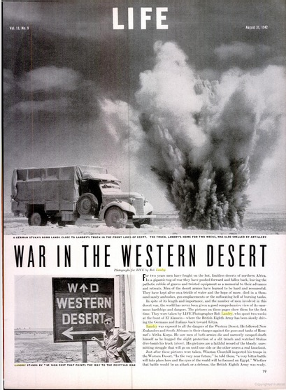 "Bob Landry, ""War in the Western Desert,"" LIFE, August 31, 1942"