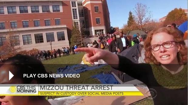 Melissa Click, Univ. of Missouri, 11-9-15, CBS screenshot
