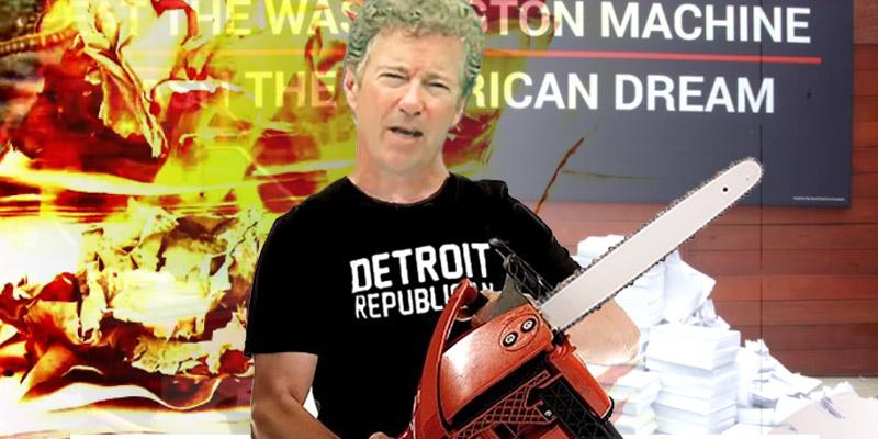 Rand Paul shredding the tax code, 7-22-15, screenshot