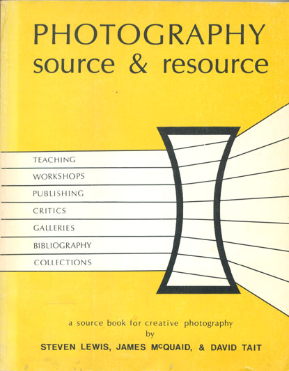 Photography: Source & Resource (1973), cover
