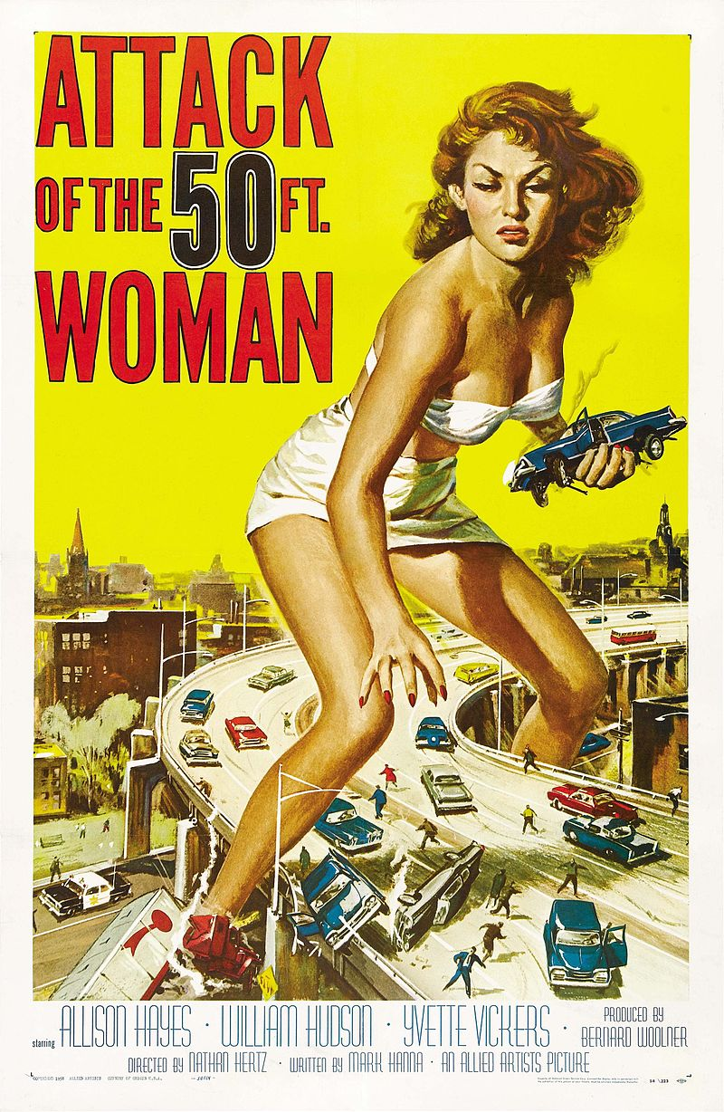 """Attack of the 50-Foot Woman"" (1958), poster"