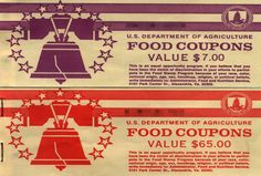 Food stamp coupon books, ca. 1980