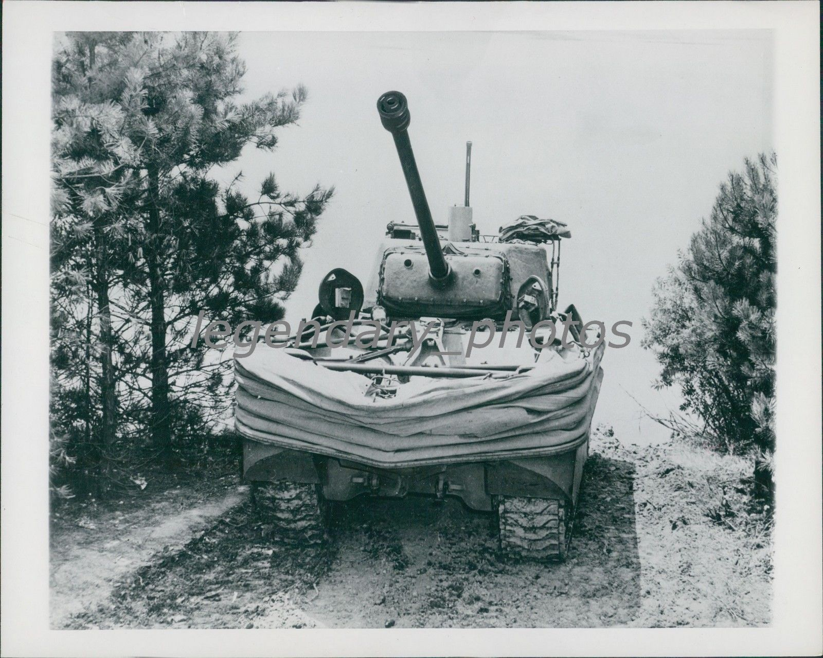 DD (Duplex Drive) Amphibious Tank with intact flotation screen, Normandy, 1944