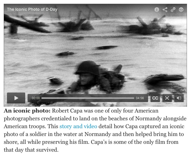 "Katie Reilly, ""5 Essential D-Day Stories, ""TIME website, 6-5-16, screenshot"