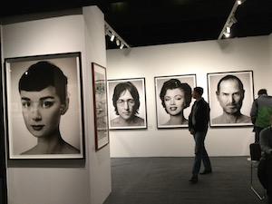 """Zhang Wei, """"Artificial Theater - Big Star"""" portraits, AIPAD, 4-16-16. Photo © by A. D. Coleman."""
