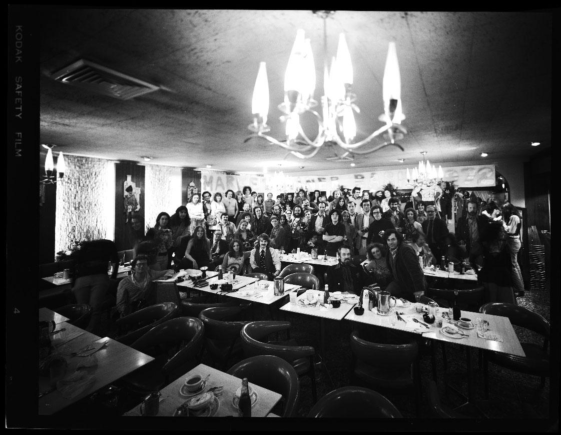 Market Diner Bash Group Portrait, 5-14-72. Photo © copyright by Neal Slavin.