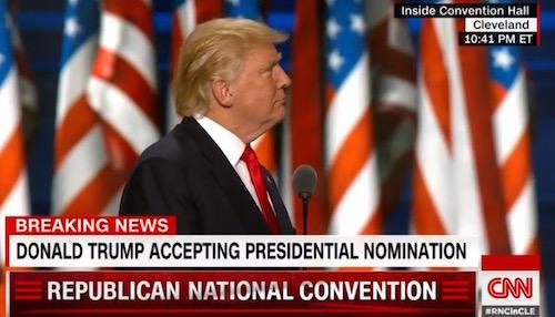 Donald Trump, Republican National Convention, 7-21-16, screenshot