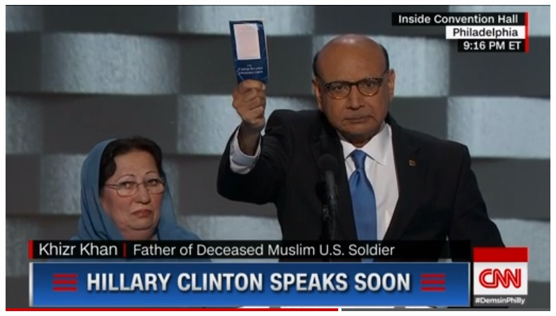 Khizr and Ghazala Khan, DNC, 7-28-16, screenshot