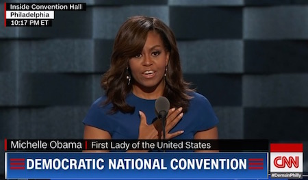 Michelle Obama, DNC speech, 7-25-16, screenshot