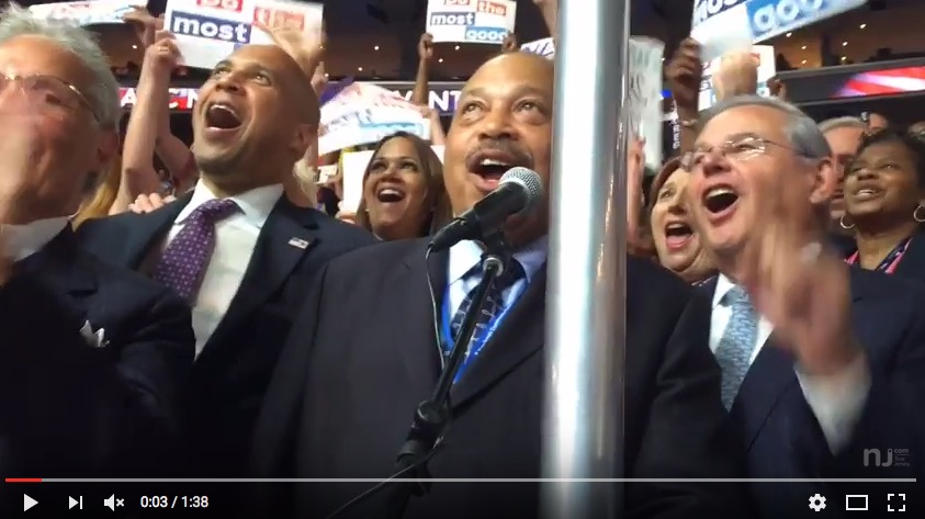 New Jersey delegation casting its votes, DNC, 7-26-16, screenshot