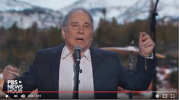 Paul Simon, DNC, 7-25-16, screenshot