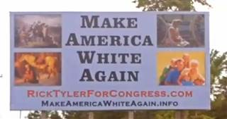 Rick Tyler's campaign billboard as seen in Polk County, TN, spring 2016