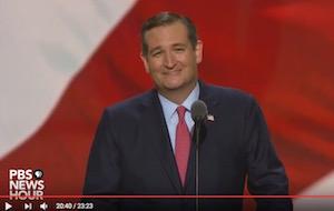 Ted Cruz, RNC speech, 7-20-16, PBS, screenshot