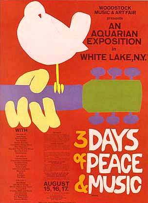 Woodstock Festival poster, 1969