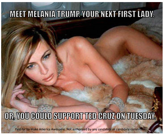Make America Awesome super PAC Facebook ad with Melania Trump, 2016
