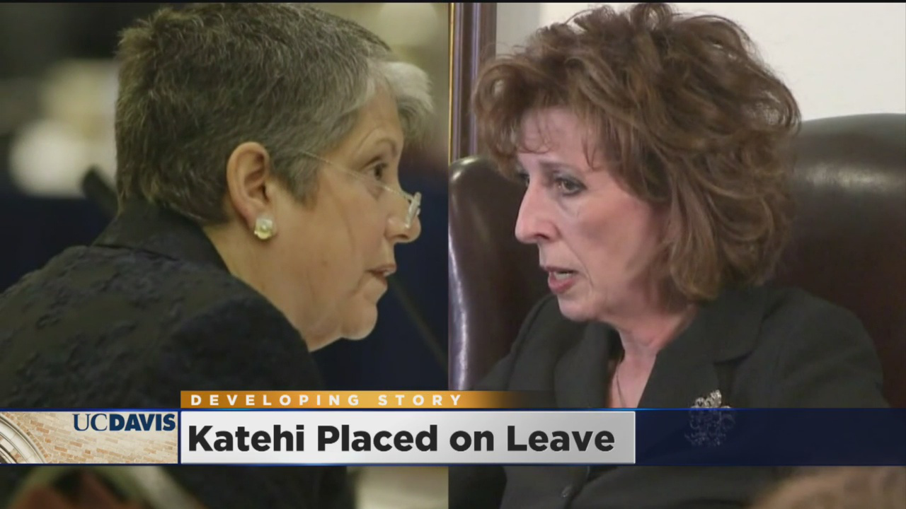 Janet Napolitano (l), Linda Katehi (r), CBS 13, 4-26-16, screenshot