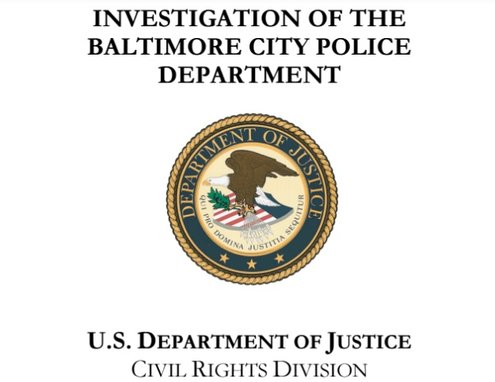 U.S. Dept. of Justice, Baltimore Police Dept. Report, 8-10-16, cover