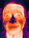 Portrait of A. D. Coleman, Seek Thermal Image app, Brent LaSala, 9-15-16