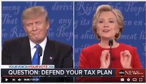 Clinton-Trump debate, 9-26-16, screenshot (a)