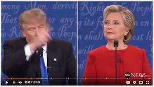 Clinton-Trump debate, 9-26-16, screenshot (b)