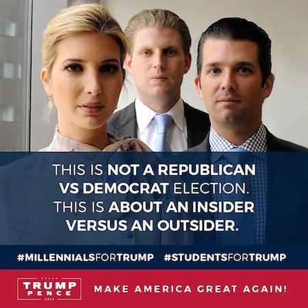 Trump siblings, Twitter, 9-2-16