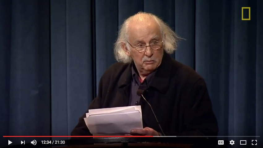 Danny Lyon, lecture, Washington, DC, 2014, National Geographic video, screenshot