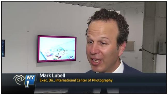 Mark Lubell, ICP opening, NY1, 6-23-16, screenshot