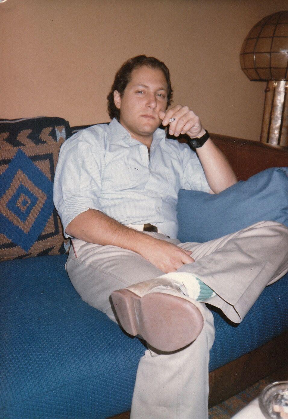 Robert Dannin in Manila, 1985. Photo by Steve McCurry.