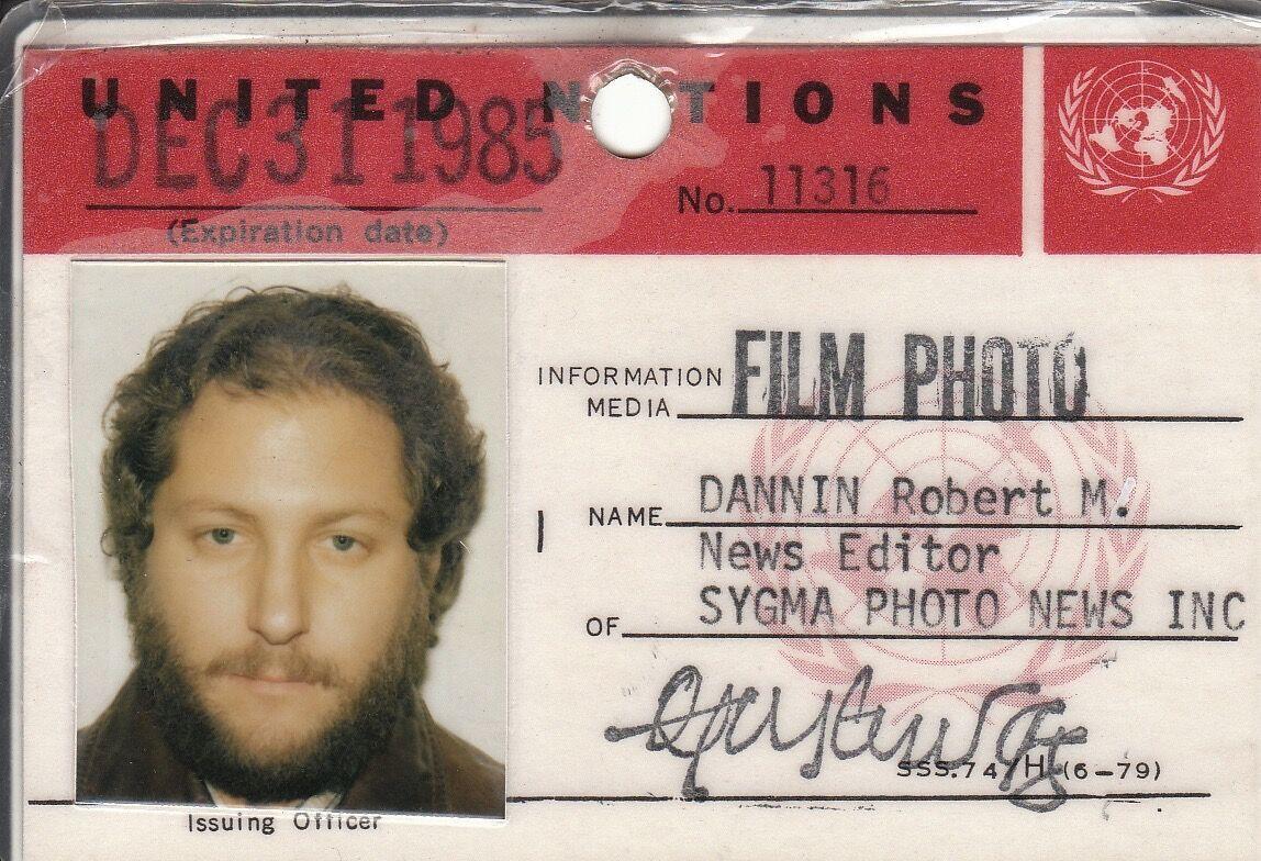 Robert Dannin, Sygma UN ID card
