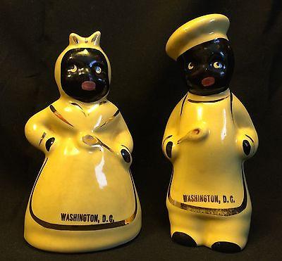 Vintage Black Americana salt-and-pepper shakers, souvenirs of Washington, DC