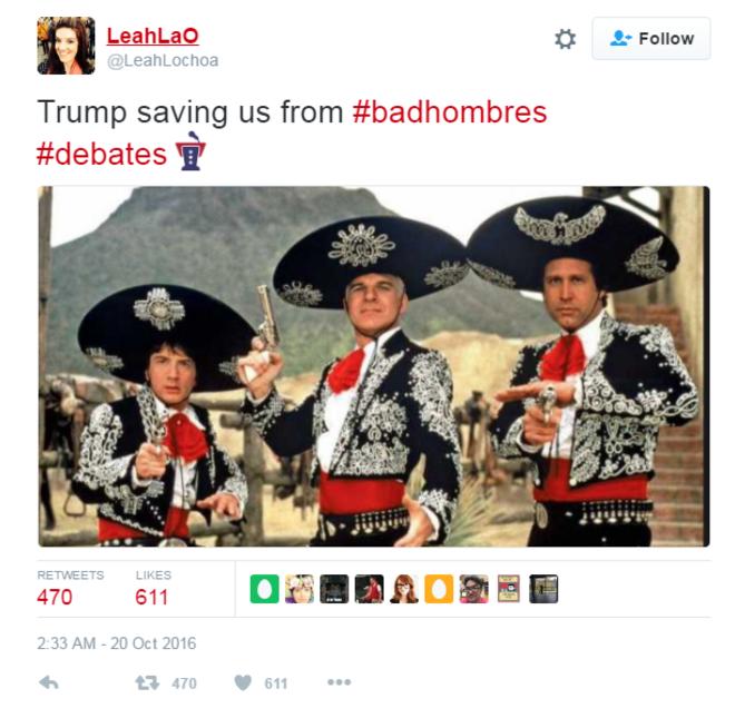 """""""Bad hombres"""" tweet, 10-19-16"""