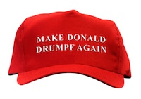 "John Oliver, ""Make Donald Drumpf Again"" hat, 2016"