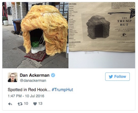 Trump Hut, Brooklyn, Facebook, 7-10-16