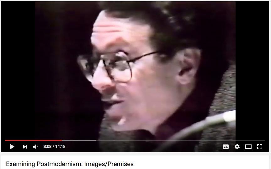"A. D. Coleman, ""Examining Postmodernism"" panel, NYU, 1991"